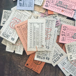 Vintage Bus Tickets - Set of 20 - Vintage Tickets, Vintage Ephemera, British Bus Tickets, Junk Journal, Vintage Ticket Lot, Travel Ephemera