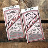 Vintage Labels - Set of 2 - Laundry Labels, NOS Labels, Junk Journal Label, Paper Ephemera, Vintage Advertising, Altered Art, Craft Supplies
