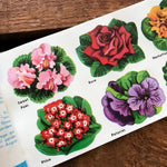 Vintage Eureka Flower Seals - Book of 36 Seals - Eureka Seals, Vintage Flower Stickers, Vintage Nature, Junk Journal Ephemera, Vintage Seals