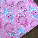 Vintage Babies Gift Wrap - 1 Sheet - Vintage Wrapping Paper, Paper Ephemera, Unused Sheet, Baby Shower Gift Wrap, Cute Baby Gift Wrap