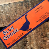Vintage Blue Goose Labels - Set of 5 - Vintage Labels, NOS Labels, Junk Journal, Vintage Paper Ephemera, Altered Art, Craft Supplies