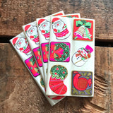 Vintage Christmas Sticker Sheets - 4 Sheets - Vintage Stickers, Hallmark Stickers, Cute Christmas Stickers, Christmas Ephemera, Junk Journal