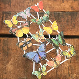 Glitter German Scraps - Butterflies - Die Cuts, Cut Outs, Reproduction, Vintage Style, Vintage Inspired, Paper Ephemera, Vintage Butterflies