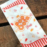 Popcorn Bags - Set of 10 - Paper Bag, Treat Bag,  Merchandise Bags, Circus Bags, Junk Journal Paper Supply, Craft Supplies, Paper Ephemera
