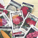 Seed Packet Stickers - Set of 24 - Handmade Stickers, Vintage Style, Garden Ephemera, Planner Stickers, Junk Journal, Paper Ephemera