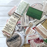 Pharmacy Stickers - Set of 25 - Medical Ephemera, Junk Journal Paper Ephemera, Planner Supplies, Craft Supplies, RX Apothecary Lot, Crafts