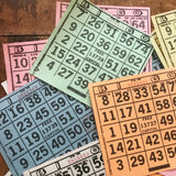 Paper Bingo Cards - Set of 60 - Bingo Sheets, Junk Journal Paper, Journal Ephemera, Planner Supplies, Craft Supplies, Paper Ephemera, Craft