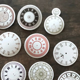 Clock Stickers - Set of 45 - Clock Face Dials, Junk Journal Paper Ephemera, Planner Supplies, Craft Supplies, Travel Stickers, Time Stickers