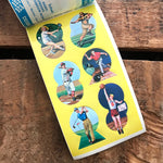 Vintage Eureka Seals - Book of 36 Seals - Vintage Sports Stickers, Sports Ephemera, Junk Journal Stickers, Vintage Ephemera, Vintage Seals