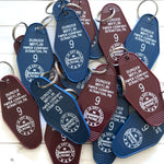 Dunder Mifflin Hotel Key Tag / Keychain - The Office TV Show