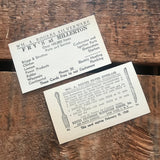 Vintage Business Cards - Set of 10 - Junk Journal, Vintage Paper Ephemera, Craft Supplies, Planner Cards, Restaurant Ephemera, Old Card Lot