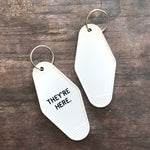 Poltergeist Hotel Key Tag / Keychain - They're Here, Horror Movie
