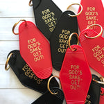 The Amityville Horror Hotel Key Tag / Keychain - For God's Sake, Get Out!, Horror Movie