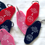 Rose Apothecary Keychain / Key Tag - Schitt's Creek, Rosebud Motel, David Rose