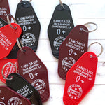 SECONDS | True Blood Hotel Keychain / Key Tag - Fangtasia, Sookie, Eric Northman - FINAL SALE