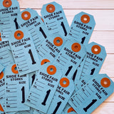 Vintage Paper Tags - Set of 10 - Vintage Tags, Shoe Price Tags, Paper Ephemera, Junk Journal, Blue Tags, Vintage Number Tags, Mercantile Tag