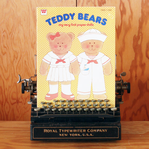 Paper Doll Book - Teddy Bears - Unused, Uncut, Vintage Paper Doll Book, Vintage Children's Book, Vintage Bears Book, Kids Activity Book