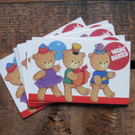 Vintage Cute Bears Birthday Party Invitations - Set of 8 - Birthday, Celebration, Children