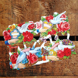 Vintage Style Roses, Hands, and Doves Floral Scraps (Diecuts / Cutouts)