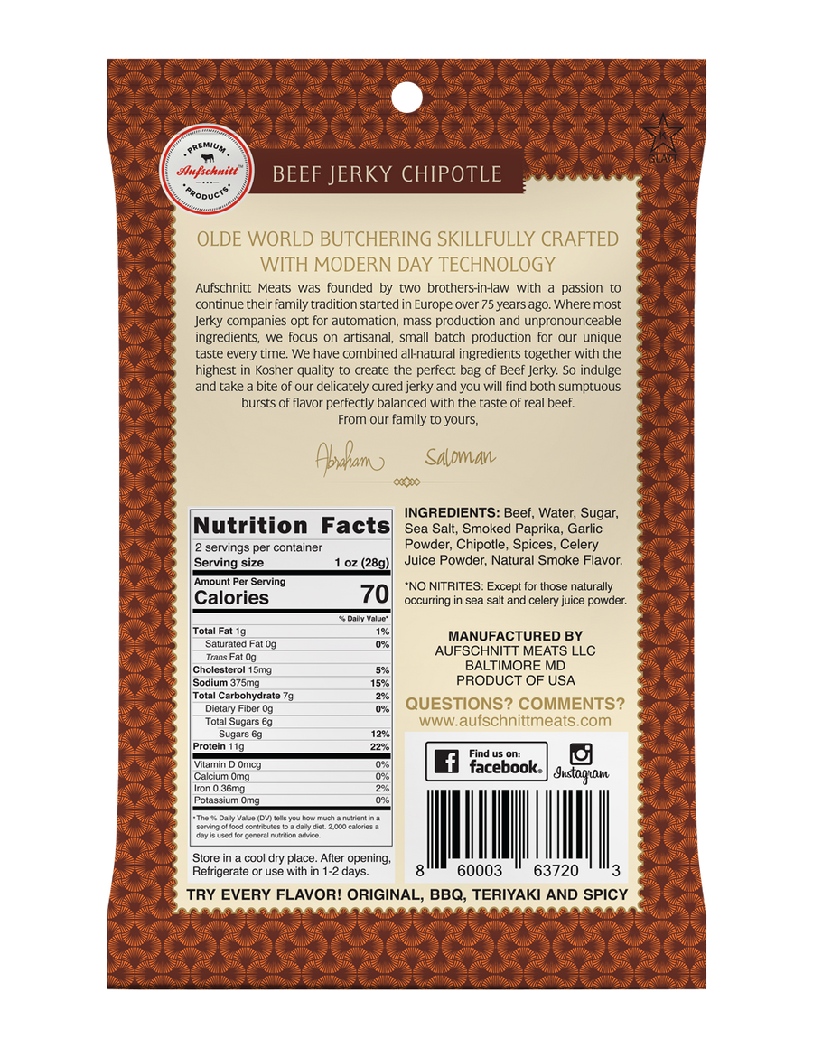 Sweet Chipotle Beef Jerky