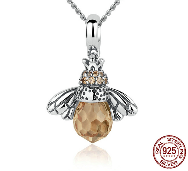 Sterling silver bee pendant necklace the 1995 store sterling silver bee pendant necklace aloadofball Gallery