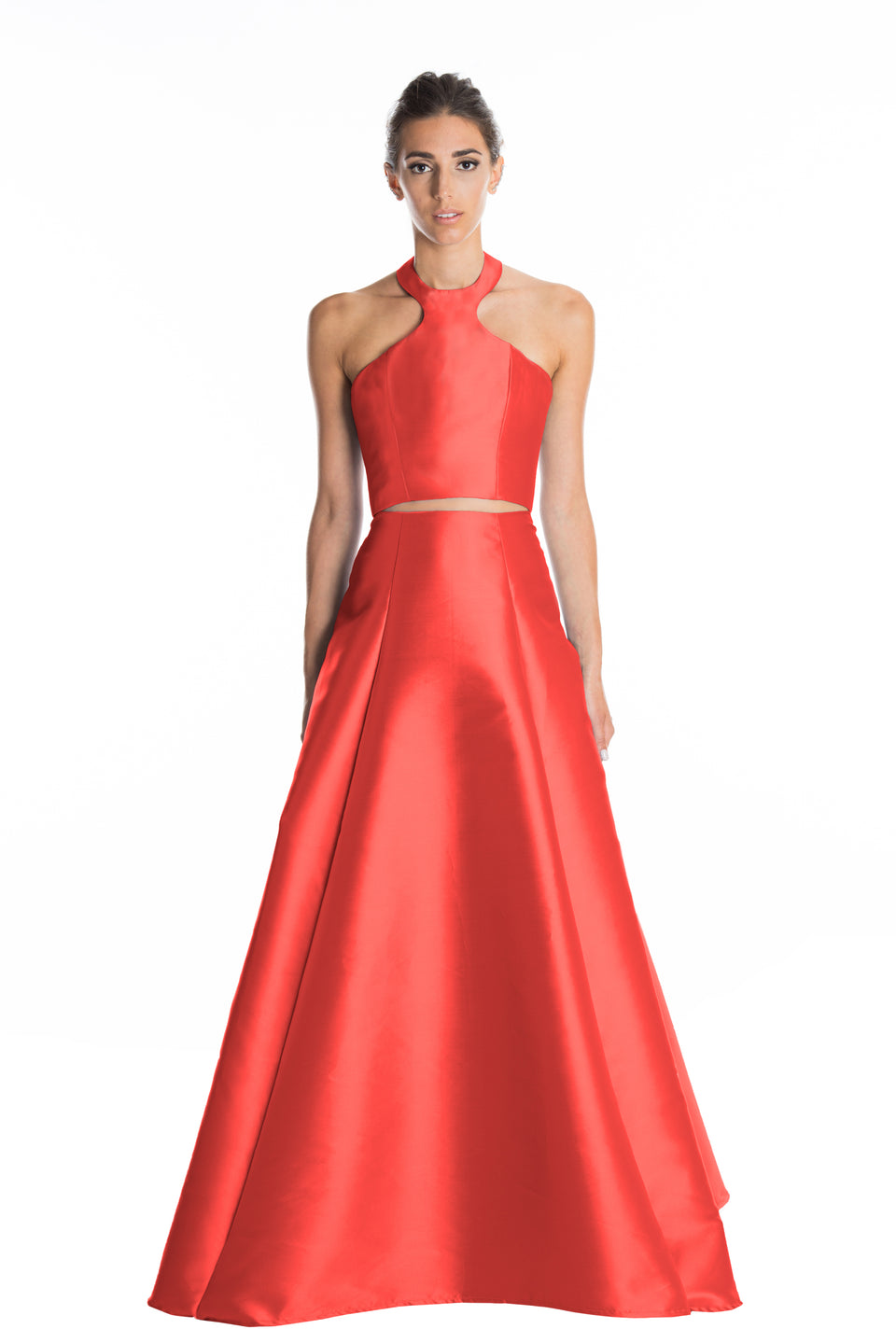Halter Neck Ball Gown Set