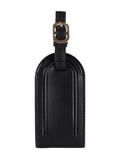 Personalized Customized Monogram Nappa Luggage Tag in Black The Oak Bar Singapore