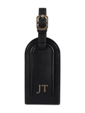 Nappa Luggage Tag in Black