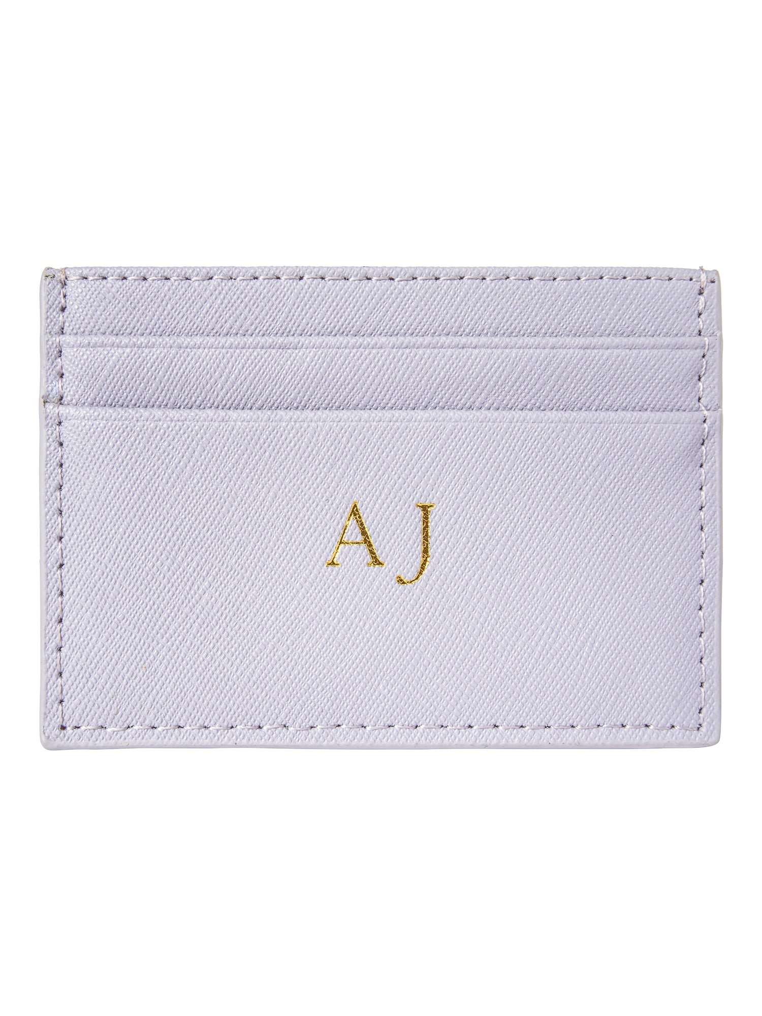 Personalized Customized Monogram Saffiano Slim Cardholder in Lavender The Oak Bar Singapore