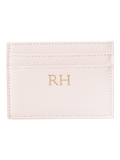 Personalized Customized Monogram Saffiano Slim Cardholder in Marzipan The Oak Bar Singapore