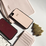 Personalized Customized Monogram Saffiano Leather Phone Case in Blush - iPhone 7/8 or 7/8 Plus The Oak Bar Singapore