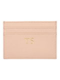 Saffiano Cardholder in Warm Taupe