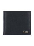 Saffiano Bi Fold Wallet in Dapper Black