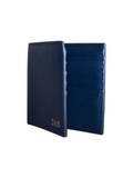 Personalized Customized Monogram Saffiano Bi Fold Wallet in Gentleman's Navy The Oak Bar Singapore
