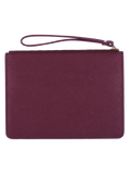 Personalized Customized Monogram Saffiano Slim Clutch in Burgundy The Oak Bar Singapore