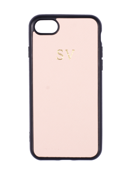 Saffiano iPhone 8 Plus Case in Blush
