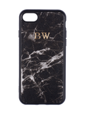 Personalized Customized Monogram Nappa Leather iPhone 7/8 Case in Marble Noir The Oak Bar Singapore