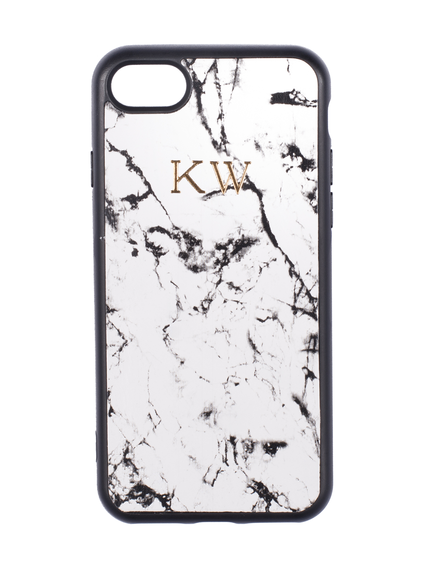 Nappa Leather iPhone Case in Marble Blanc