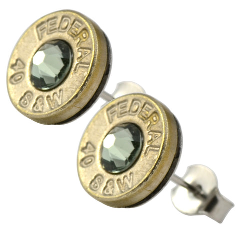 Little Black Gun Grey Nickel Stud Earrings