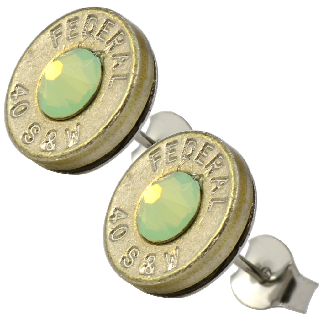 Little Black Gun Green Nickel Stud Earrings