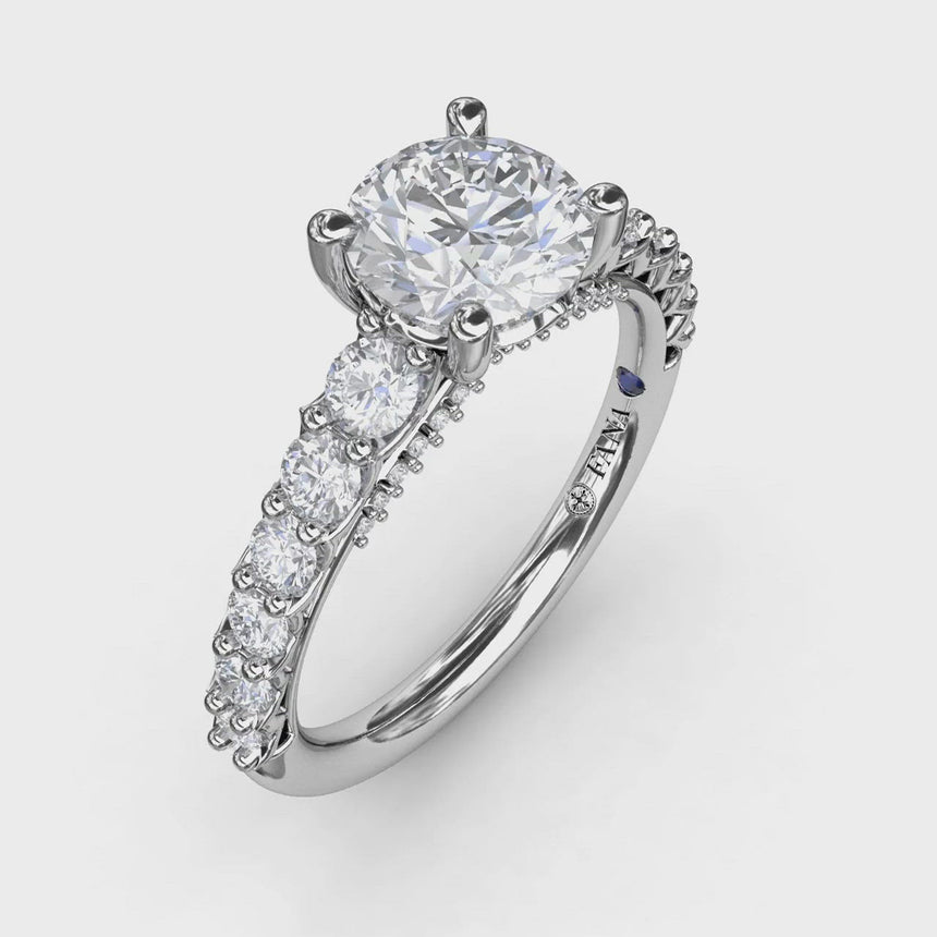 Contemporary Diamond Ring With Openwork Band 3183