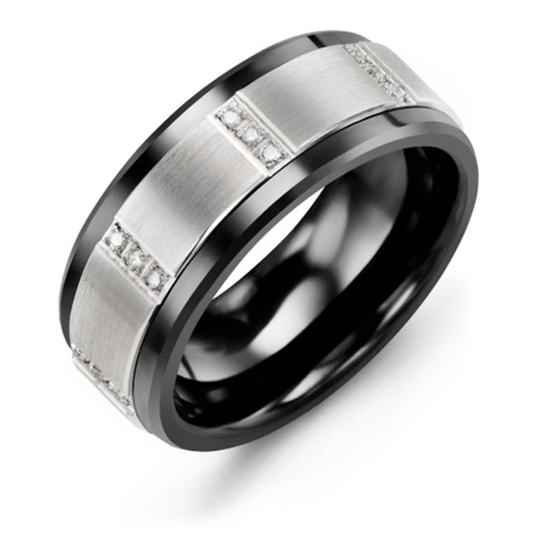 Vertical Trio Diamond Wedding Band