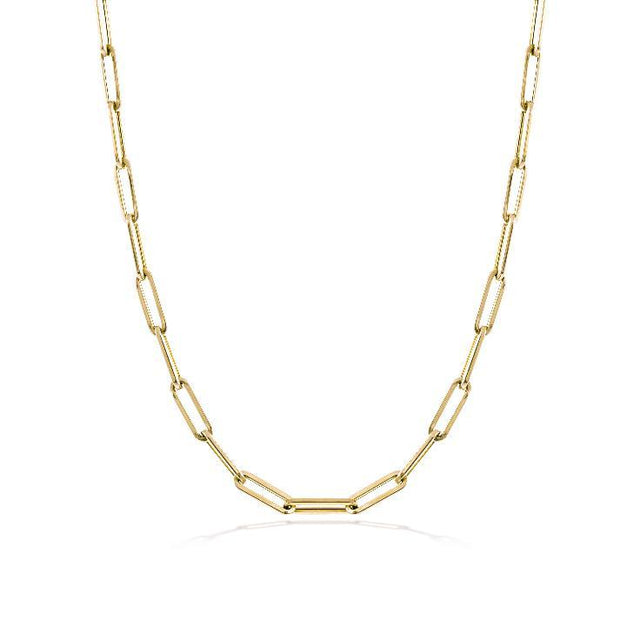 Gold 10mm Chain Necklace