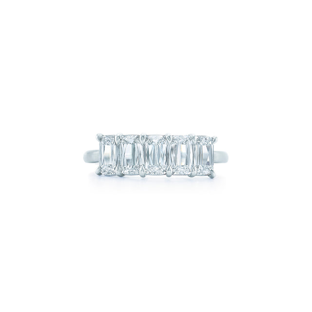 Ashoka partway diamond band ring in platinum