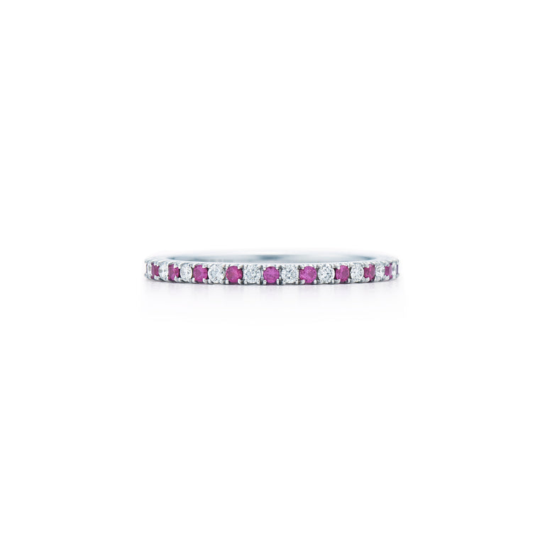 Stackable Diamond And Ruby Ring - Chalmers Jewelers