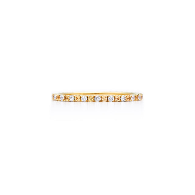 Kwiat Yellow sapphire and diamond eternity band - Chalmers Jewelers