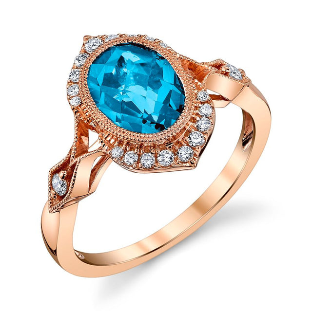 Blue Topaz Vintage-Inspired Ring - Chalmers Jewelers