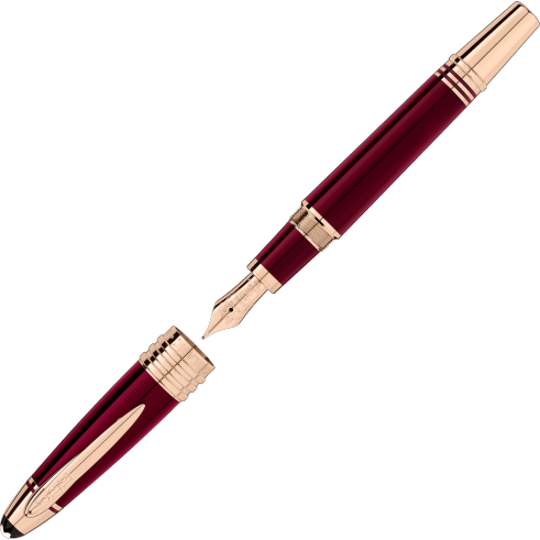 Montblanc John F. Kennedy Special Edition Burgundy Fountain Pen - Chalmers Jewelers