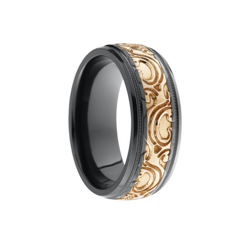 Rose Gold Scroll Band - Chalmers Jewelers