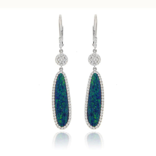 Opal and Diamonds Earrings